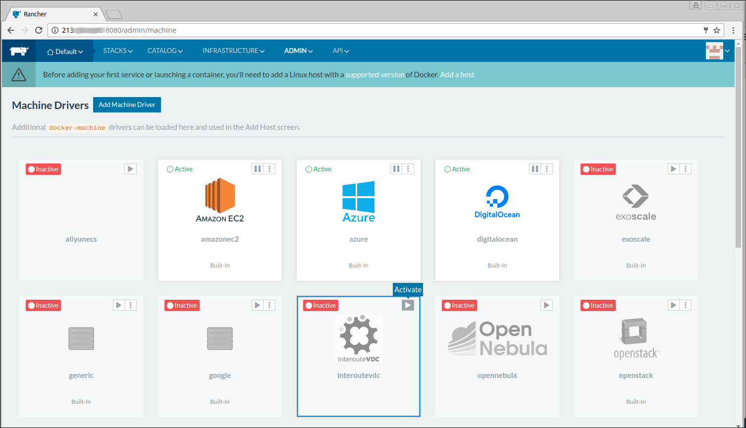 How to set up Rancher for container orchestration in VDC